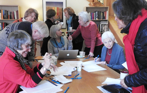 Group of Women Sending Letters  Serve sm